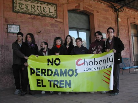 Y la foto prometida....El Pirineo solidario con Teruel