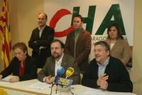 Presentación lista de candidatos de CHA a las Cortes de Aragón