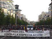 Exito de la manifestación por el Pirineo en Zaragoza