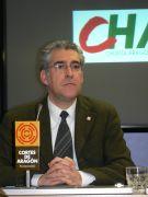 El candidato a la Presidencia del Gobierno de Aragón, en Jaca